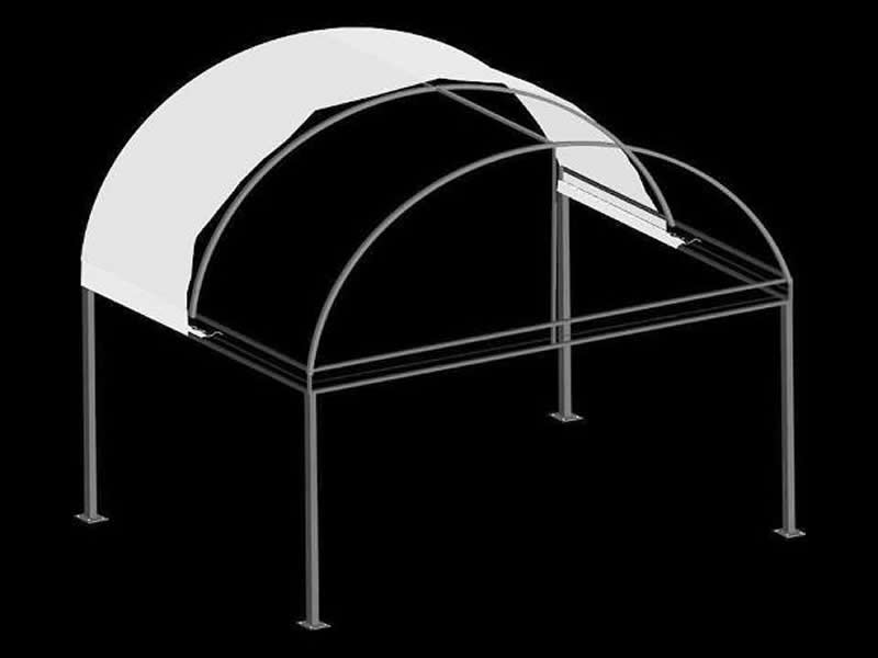 Radius Canopy with Truss