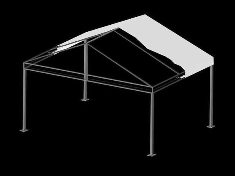 Freestanding A-Frame Canopy with Truss