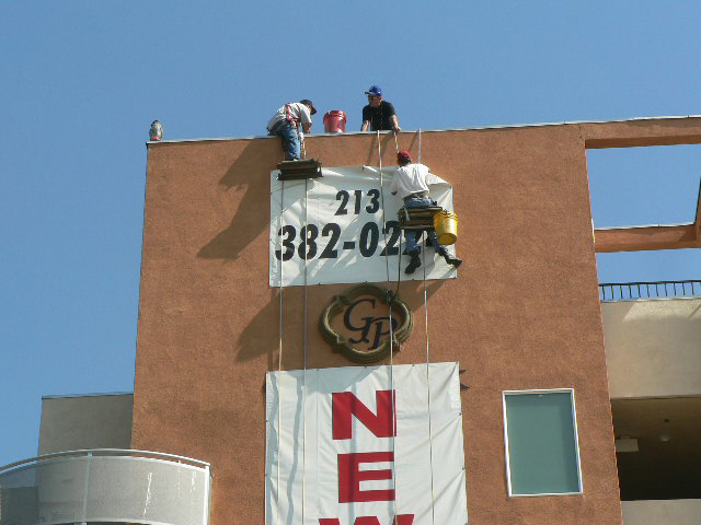 Sign removal of large format banner