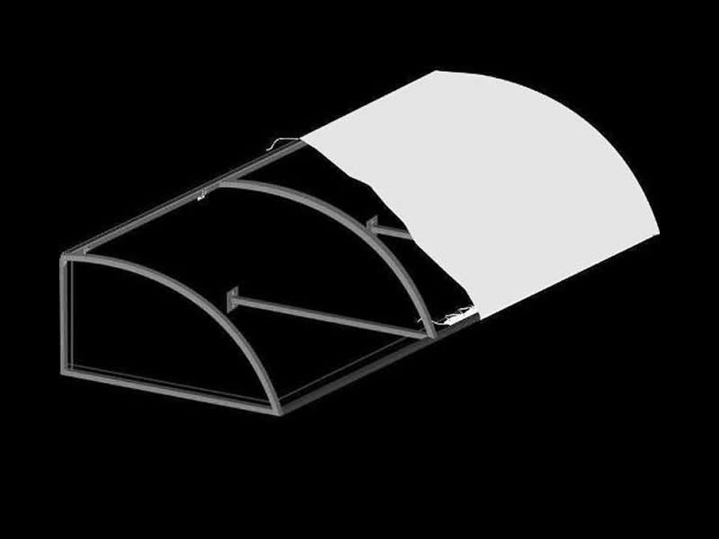 Convex Awning With Truss
