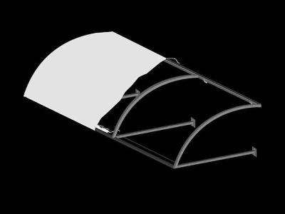 Convex Awning With Open Ends