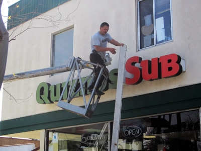 Sign removal of channel letters