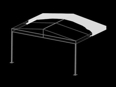 A Frame with Truss Canopy