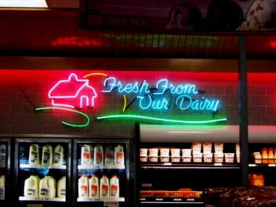 Interior Neon Sign Mounted On Wall