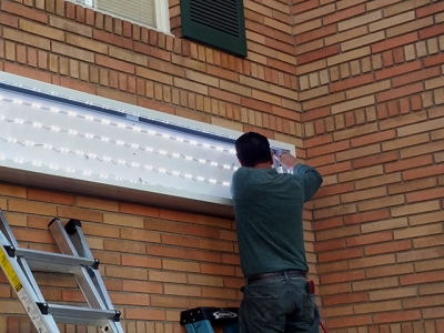 Installation of sign cabinet