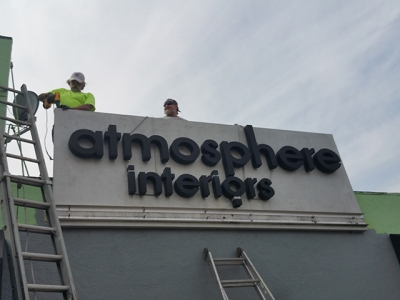 Sign removal of sign cabinet