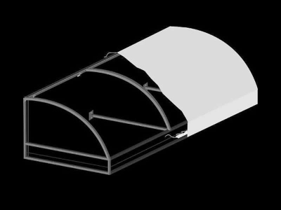 Convex Awning with Open Ends and Truss