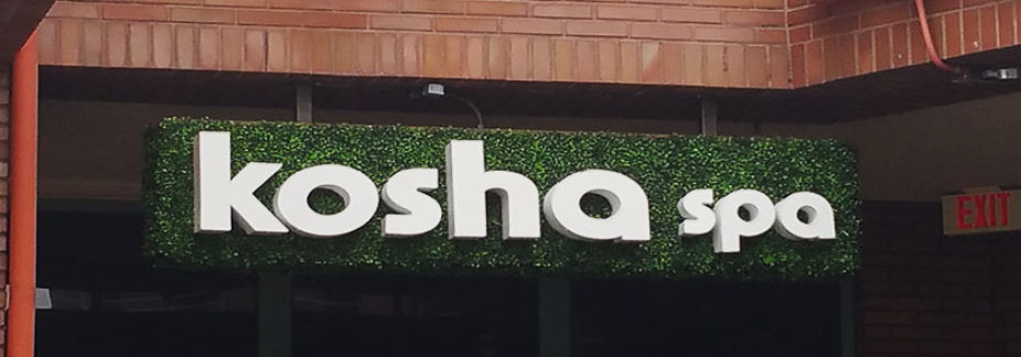 Channel letters Los Angeles-Kosha Spa