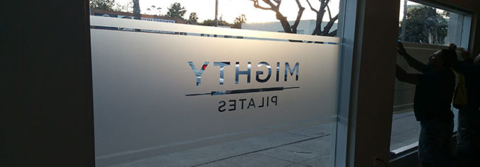 Custom Signs Los Angeles- Frosted vinyl sign