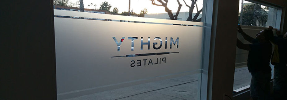 Custom signs los angeles frosted vinyl sign
